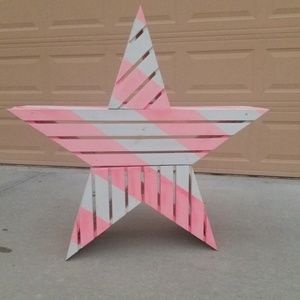 Pink Victoria Secret pink and white star